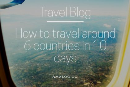Travel around around 6 countries in 10 days